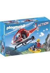 Playmobil Helicóptero De Rescate De Montaña 9127