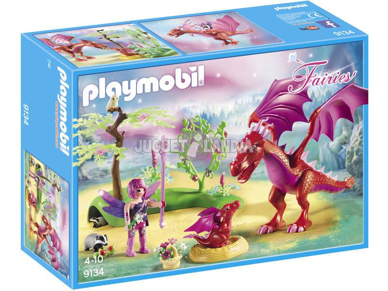 Playmobil Dragon Com Bebê 9134
