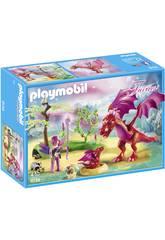 imagen Playmobil Dragón Con Bebé 9134
