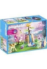 imagen Playmobil Lago Con Hadas Bebé 9135