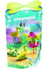 imagen Playmobil Niña Hada Con Cigüeñas 9138
