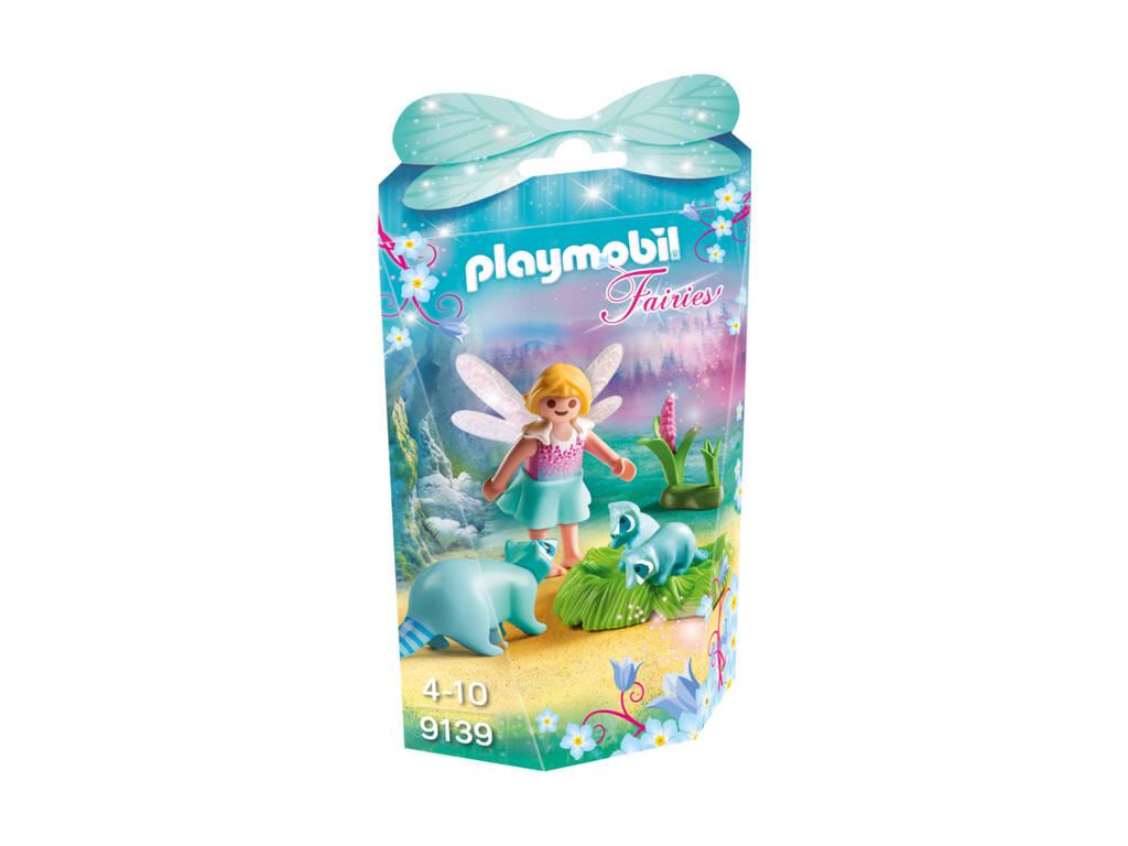 Playmobil Menina Fada Com Guaxinins 9139