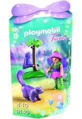 imagen Playmobil Niña Hada Con Búho 9140
