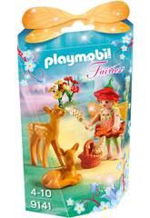 imagen Playmobil Niña Hada Con Ciervos 9141