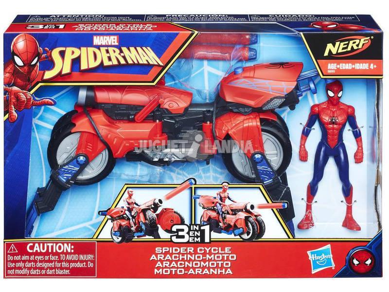 Spiderman Moto Arácnida 3 en 1 Hasbro E0593