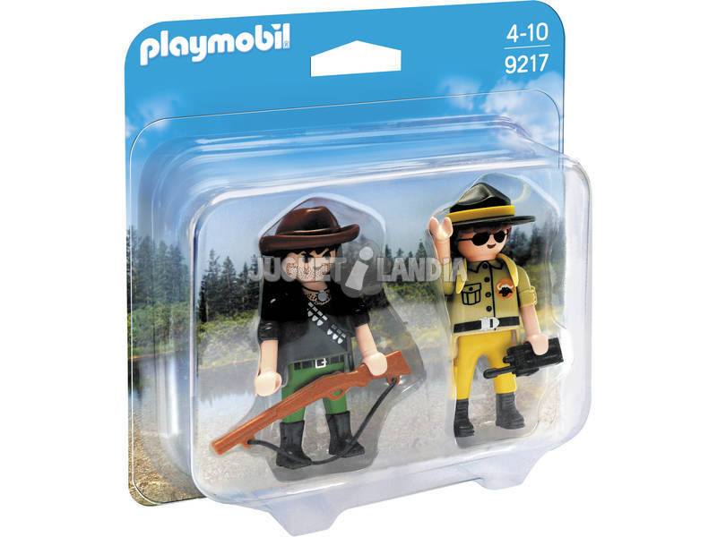 Playmobil Dúo Pack Ranger y Cazador Furtivo 9217