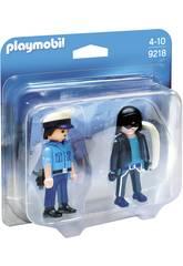 Playmobil DuoPack Policier et Voleur 9218