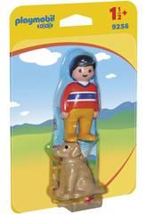 Playmobil 1,2,3 Garçon avec Chien 9256