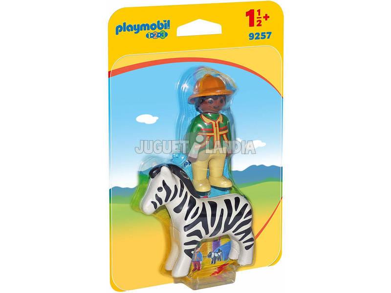 Playmobil 1.2.3 Hombre Con Cebra 9257