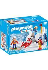 imagen Playmobil Lucha De Bolas De Nieve 9283
