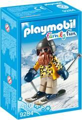 imagen Playmobil Esquiador Con Snowblades 9284