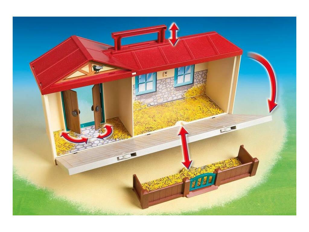 acheter playmobil ferme transportable 4897 juguetilandia. Black Bedroom Furniture Sets. Home Design Ideas