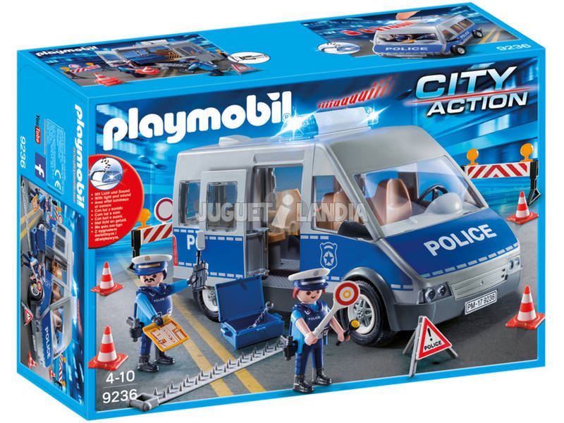 Playmobil Furgón Policía Con Control De Tráfico 9236