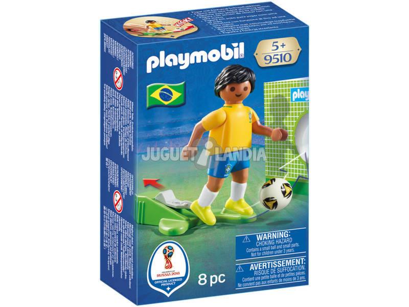 Playmobil Jugador De Fútbol Brasil 9510