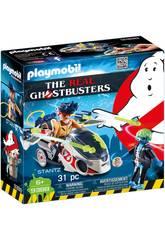 Playmobil Ghostbusters Stantz con moto volante 9388