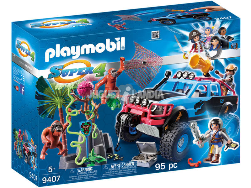 Playmobil Super 4 Monster Truck con Alex e Rock Brock 9407