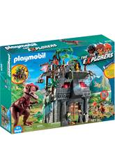 imagen Playmobil The Explorers Campo base e T-Rex 9429