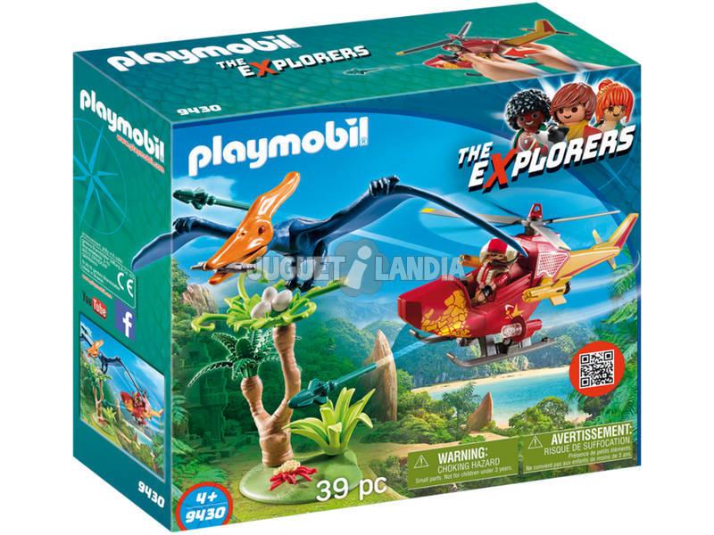 Playmobil The Explorers Elicottero e Pterodattilo