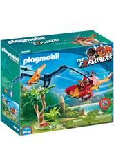 imagen Playmobil Helicóptero Con Pterosaurio