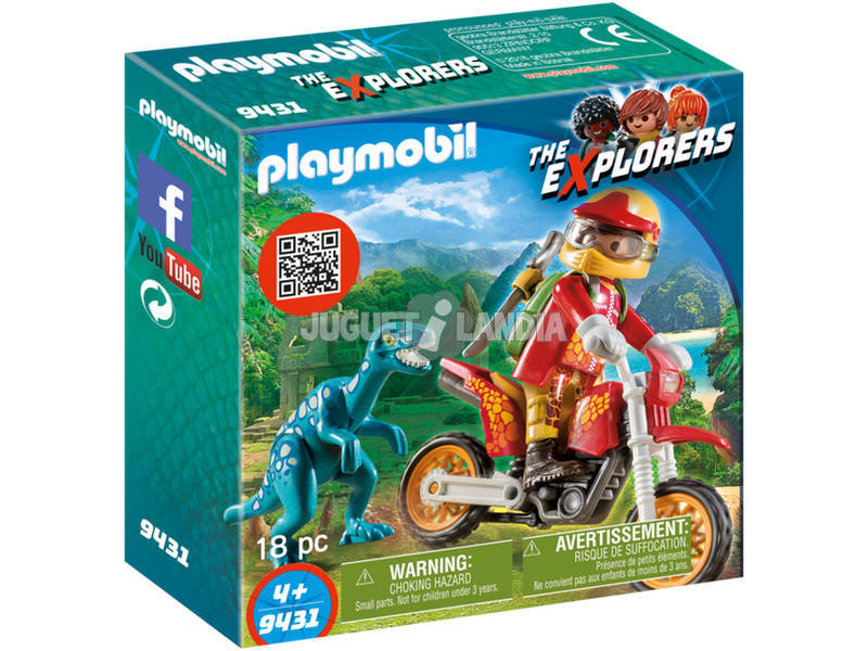 Playmobil the explorers moto da cross e raptor 9431 juguetilandia - Moto cross playmobil ...