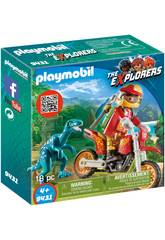 imagen Playmobil Moto Con Velociraptor 9431
