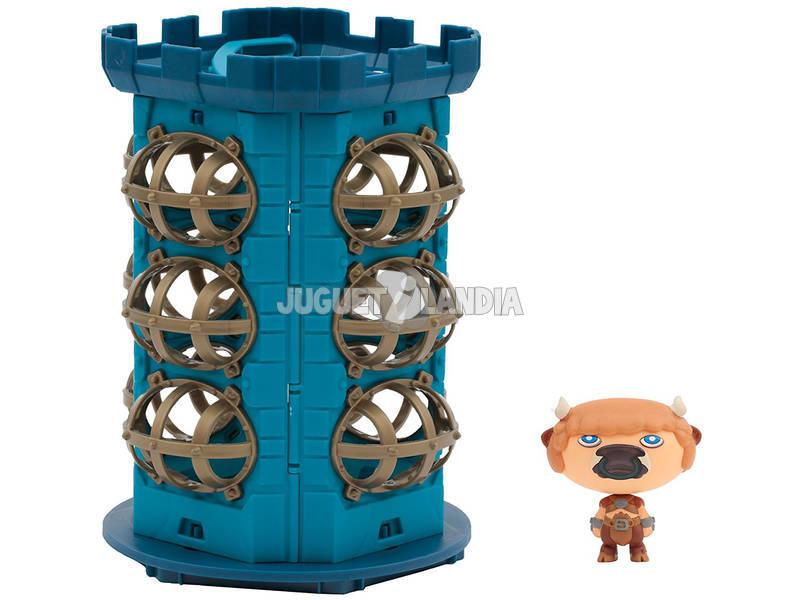 Hero Eggs Monster Tower Maxi Playset con Figura Esclusiva Matador Giochi Preziosi HEW04000