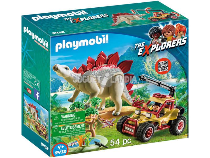 Playmobil Veículo Explorador com Estegossauro 9432