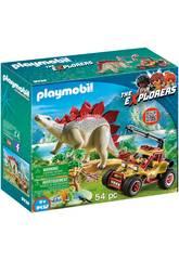Playmobil Vehículo Explorador Con Estegosaurio 9432