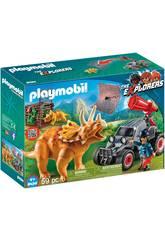 imagen Playmobil Coche Con Triceratops