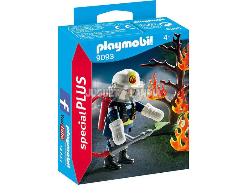 Playmobil Bombeiro Com Árvore Em Chamas 9093