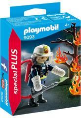 imagen Playmobil Bombero Con Árbol En Llamas 9093