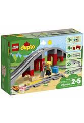 imagen Lego Duplo Puente y Vias Ferroviarias 10872