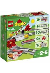 imagen Lego Duplo Vías Ferroviarias 10882