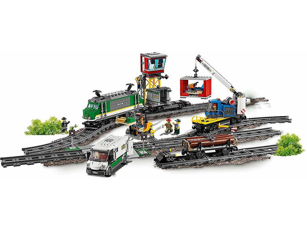 acheter lego city train de marchandises 60198 juguetilandia. Black Bedroom Furniture Sets. Home Design Ideas