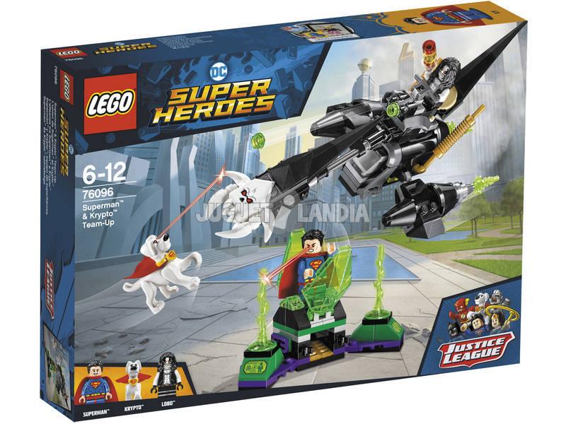 Lego Súper Héroes Superman y Krypto Equipo de Superhéroes 76096