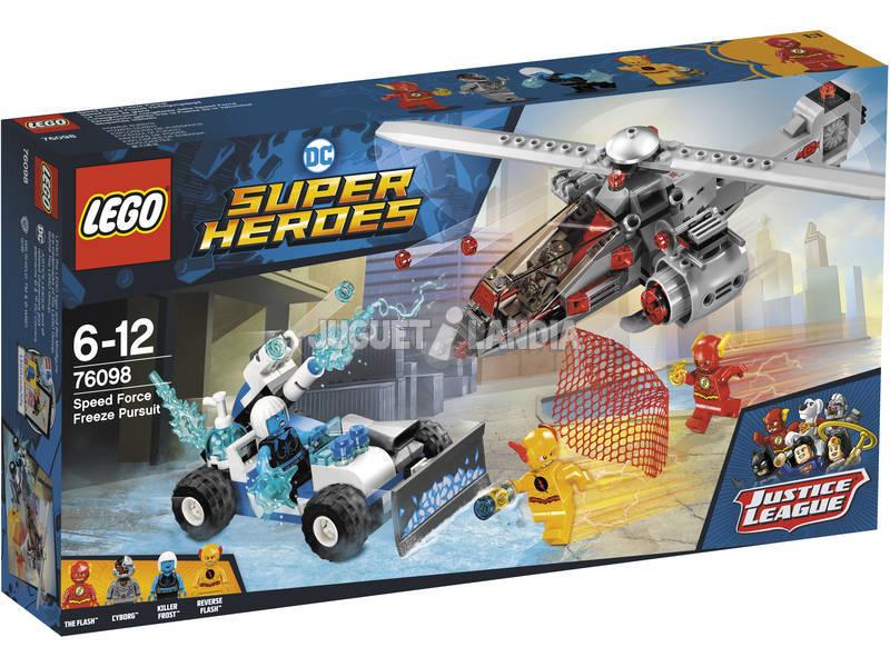 Lego Super Herñois Perseguição Gélida por trás da Força da Velocidade 76098