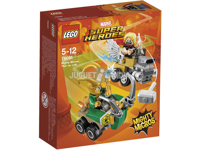 Lego Super Heróis Mighty Micros Thor VS. Loki 76091