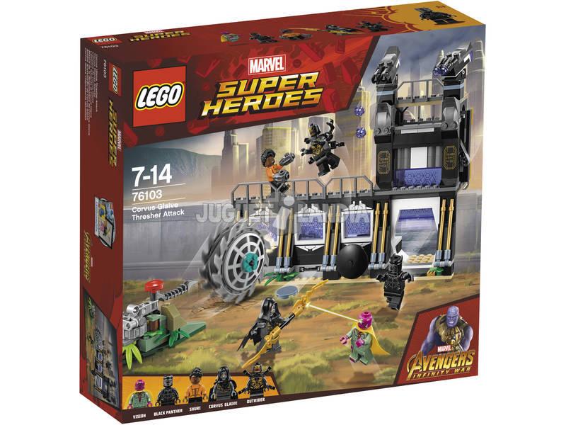 Lego Super Heróis Ataque da Ensiladeira de Corvus Glaive 76103