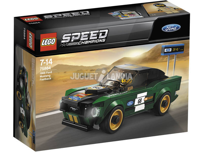 Lego Velocidade Campeões Ford Mustang Fastback 68 75884