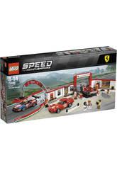 imagen Lego Speed Champions Taller Definitivo de Ferrari 75889