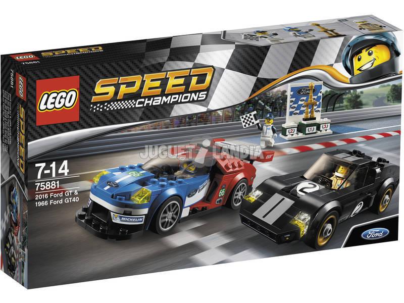 Campeões de velocidade de Lego Ford GT 2016 e Ford GT40 1966 75881