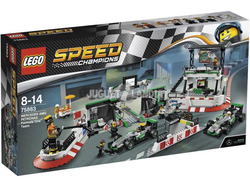 Lego Speed Champions Equipe de Fórmula 1 Mercedes AMG Petrona 75883