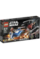 Lego Star Wars A-Wing contro Microfighter TIE Silencer 75196