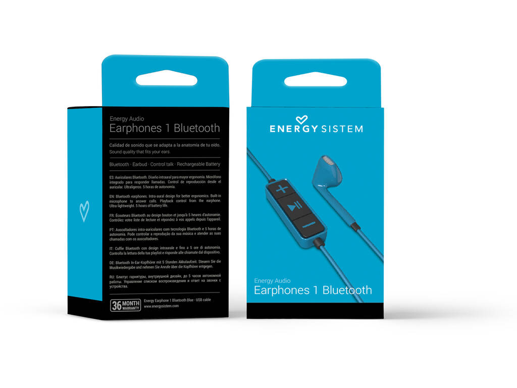 Auricolari 1 Bluetooth Color Blu Energy Sistem 428342