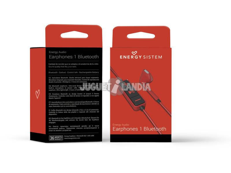 Auriculares 1 Bluetooth Color Rojo Energy Sistem 428410