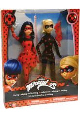 Pack 2 Muñecas Ladybug y Antibug 27cm Bandai 39812