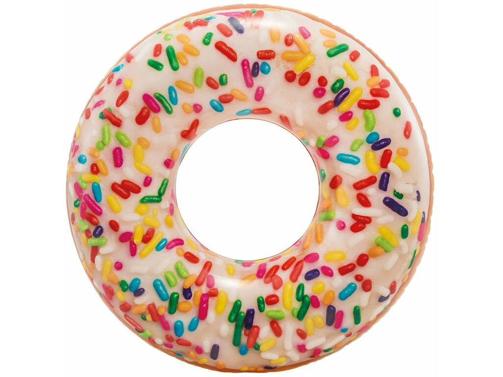Flotador Hinchable Donut Blanco de 114 cm. Intex 56263