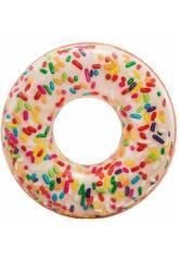 imagen Flotador Hinchable Donut Blanco de 114 cm. Intex 56263