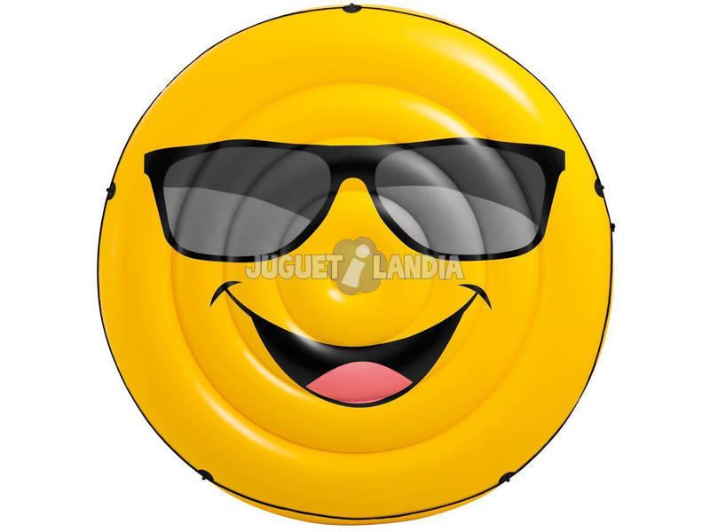 Materassino Cool Smile Emoticon Gonfiabile da 173x27 cm per Piscina Intex 57254