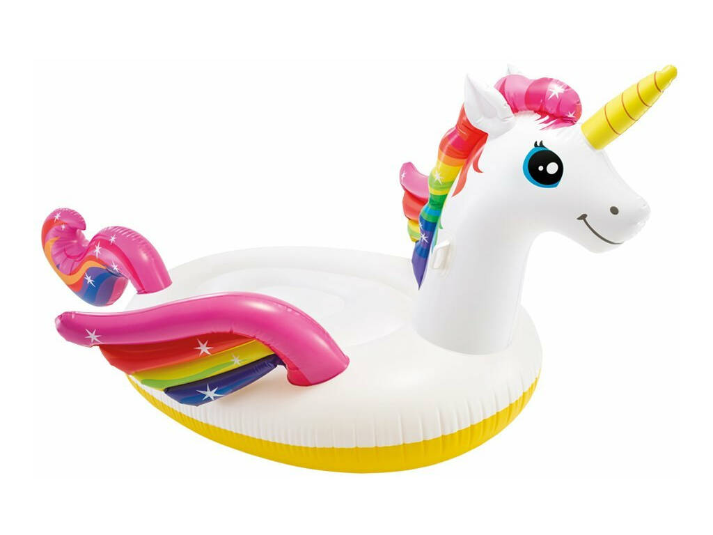 Isla Hinchable Mega Unicornio de 287x193x165 cm. Intex 57281